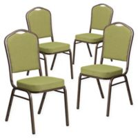 Flash Furniture HERCULES™ Banquet Chair (Set of 4) in Green/Gold