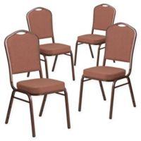 Flash Furniture HERCULES™ Banquet Chair (Set of 4) in Dark Brown/Copper