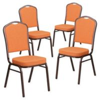 Flash Furniture HERCULES™ Banquet Chair (Set of 4) in Orange/Copper