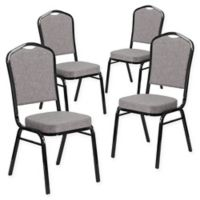 Flash Furniture HERCULES™ Banquet Chair (Set of 4) in Grey/Black