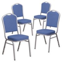 Flash Furniture HERCULES™ Banquet Chair (Set of 4) in Blue/Silver
