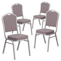 Flash Furniture HERCULES™ Banquet Chair (Set of 4) in Printed Grey/Silver