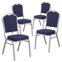 Flash Furniture HERCULES™ Banquet Chair (Set of 4) in Navy/Silver
