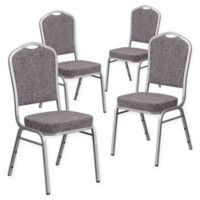 Flash Furniture HERCULES™ Banquet Chair (Set of 4) in Heather Grey/Silver