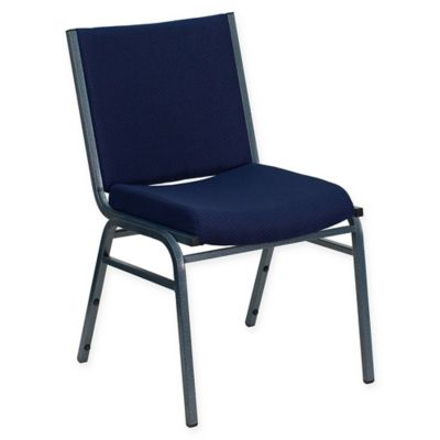 Flash Furniture Heavy Duty Metal Stacking Chair In Navy