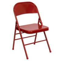 Flash Furniture 30-Inch Metal Folding Chair in Red