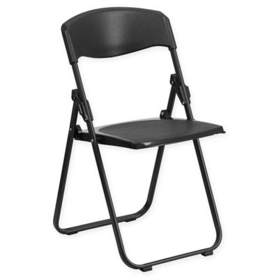 Flash Furniture Folding Chair in Black. Buy Folding Kitchen Chairs from Bed Bath   Beyond