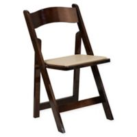 Flash Furniture Wood Folding Chair in Beige