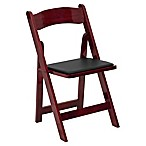 Flash Furniture Wood Folding Chair in Mahogany