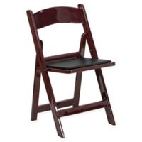 Flash Furniture Hercules Resin Folding Chair in Mahogany