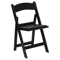 Flash Furniture Hercules Resin Folding Chair in Black