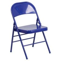 Flash Furniture Colorburst Steel Folding Chair in Blue