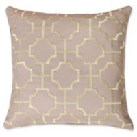 Thro by Mario Lorenz Tonianne Embroidered Geo Throw Pillow in Crockery/Gold