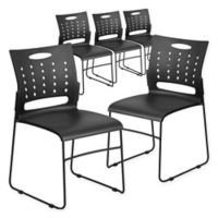 Flash Furniture Stack Chair in Black (Set of 5)
