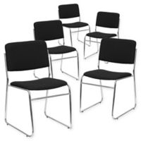 Flash Furniture Stacking Chair in Black (Set of 5)