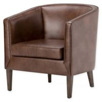 Mitchum Bonded Leather Tub Chair in Brown