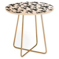 Deny Designs Cactus Party Round Side Table in Black