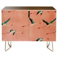 Deny Designs Holli Zollinger Flamingo Credenza in Pink