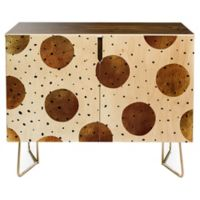 Deny Designs Georgiana Paraschiv Mixed Dots Credenza in Gold