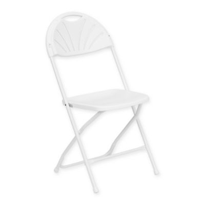 Flash Furniture Plastic Fan Back Folding Chair in White. Buy Dining Room Folding Chairs from Bed Bath   Beyond