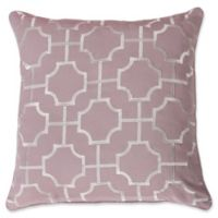 Thro by Mario Lorenz Tonianne Embroidered Geo Throw Pillow in Nirvana/Silver