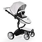 Mima® Xari Black Chassis Stroller in White/Black