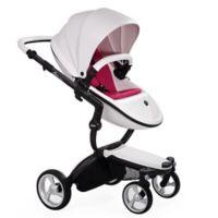 Mima® Xari Black Chassis Stroller in White/Magenta