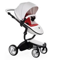 Mima® Xari Black Chassis Stroller in White/Red