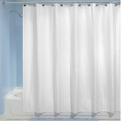 InterDesignR 72 Inch X 84 Satin Stripe Shower Curtain Liner In White
