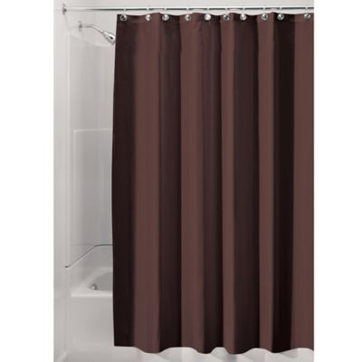 InterDesignR Solid Shower Curtain In Chocolate