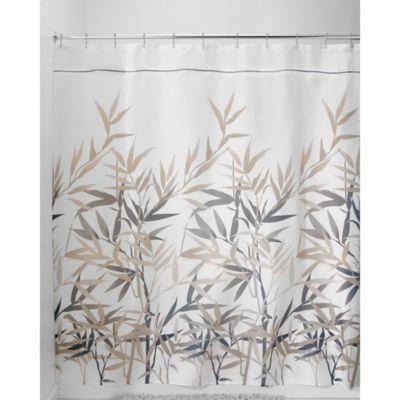 InterDesign Anzu 54 Inch X 78 Inch Shower Curtain In Black/Tan