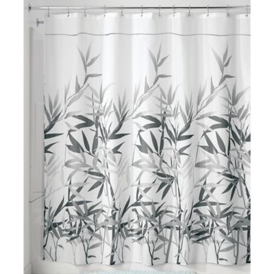InterDesign Anzu 72 Inch X Shower Curtain In Grey