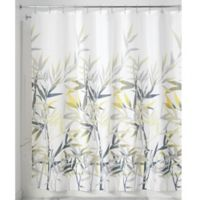 iDesign® Anzu 72-Inch x 72-Inch Shower Curtain in Yellow/Grey