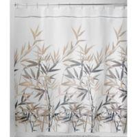 iDesign® Anzu 72-Inch x 72-Inch Shower Curtain in Black/Tan