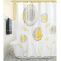 iDesign® Marigold Shower Curtain in Yellow/Grey
