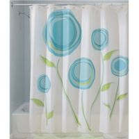 iDesign® Marigold Shower Curtain in Blue/Green
