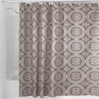 iDesign® Medallion 54-Inch x 78-Inch Shower Curtain in Taupe