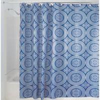 IDesignR Medallion 54 Inch X 78 Shower Curtain In Blue