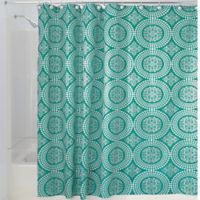 iDesign® Medallion 72-Inch x 72-Inch Shower Curtain in Teal