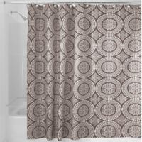iDesign® Medallion 72-Inch x 72-Inch Shower Curtain in Taupe