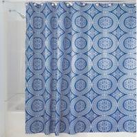 iDesign® Medallion 72-Inch x 72-Inch Shower Curtain in Blue