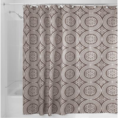 InterDesignR Medallion 72 Inch X 84 Shower Curtain In Taupe