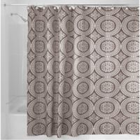 iDesign® Medallion 72-Inch x 84-Inch Shower Curtain in Taupe