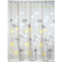 iDesign® Daizy 54-Inch x 78-Inch Shower Curtain in Grey/Yellow