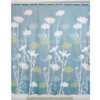 iDesign® Daizy 54-Inch x 78-Inch Shower Curtain in Blue/Sage