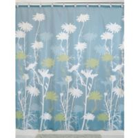 iDesign® Daizy 72-Inch x 72-Inch Shower Curtain in Blue/Sage