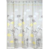 iDesign® Daizy 72-Inch x 84-Inch Shower Curtain in Grey/Yellow