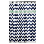 InterDesign® 72-Inch x 72-Inch Chevron Shower Curtain in Mint