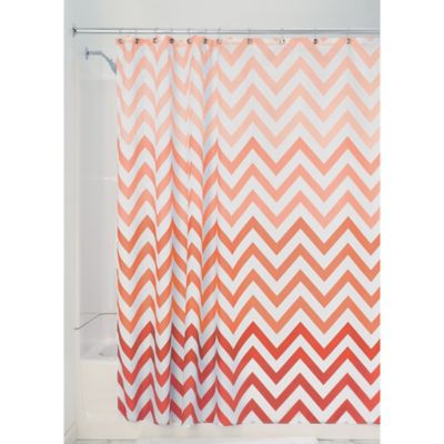 Turquoise And Coral Shower Curtain. InterDesign  Ombre Shower Curtain in Coral Buy Fabric Curtains from Bed Bath Beyond