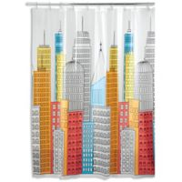 iDesign® Metropolitan PEVA Shower Curtain